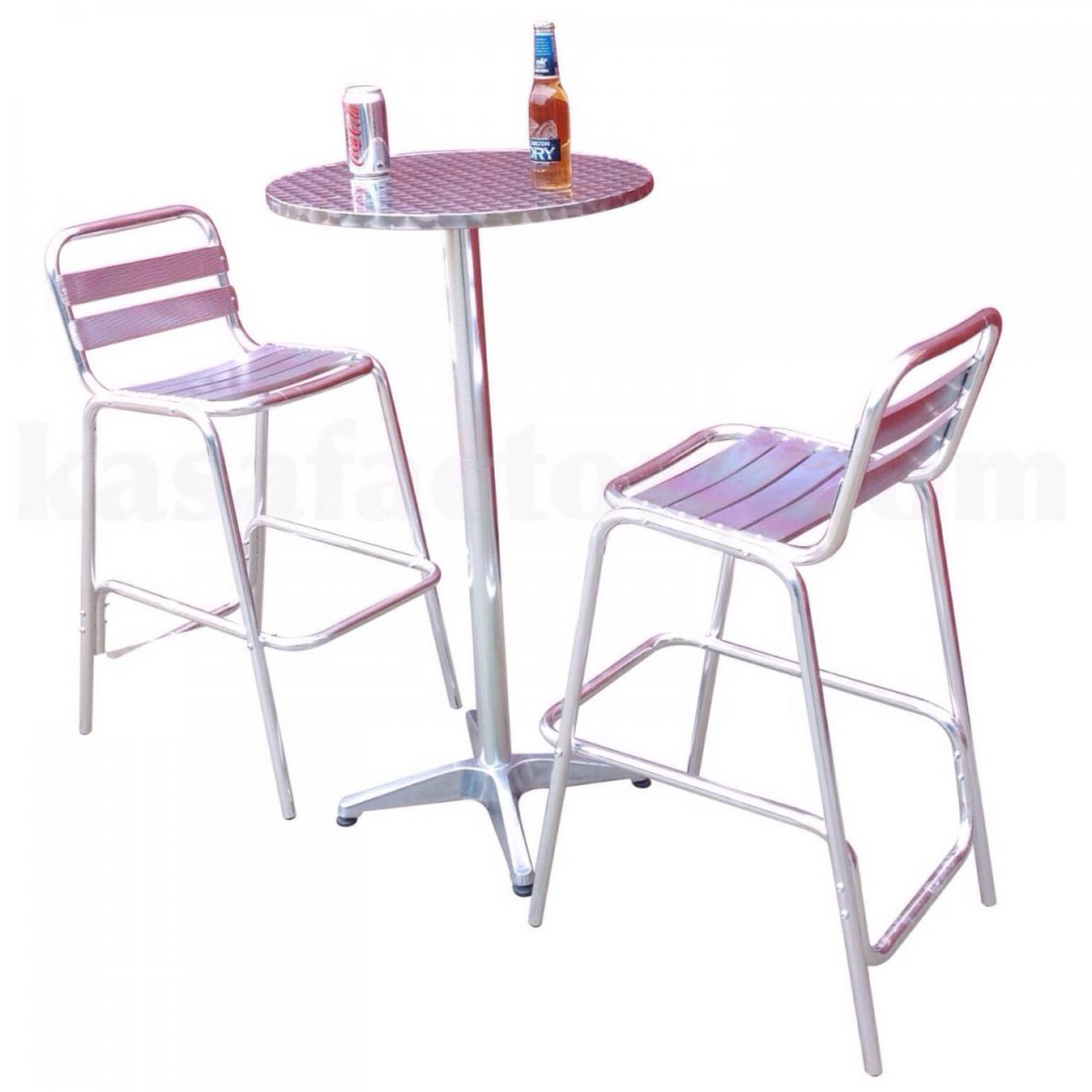High bar chair KASA aluminium bar table