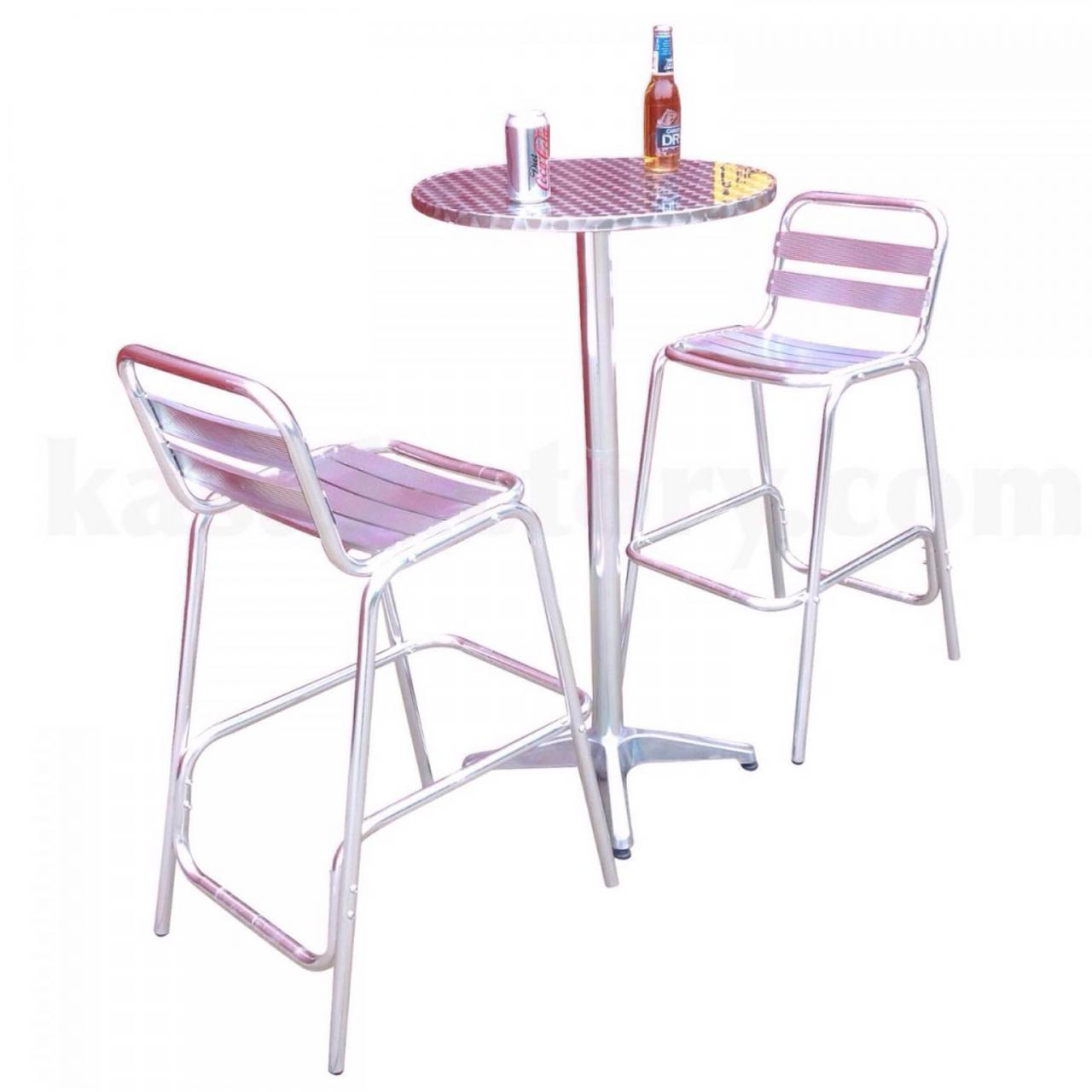 Bar chair bar table aluminium