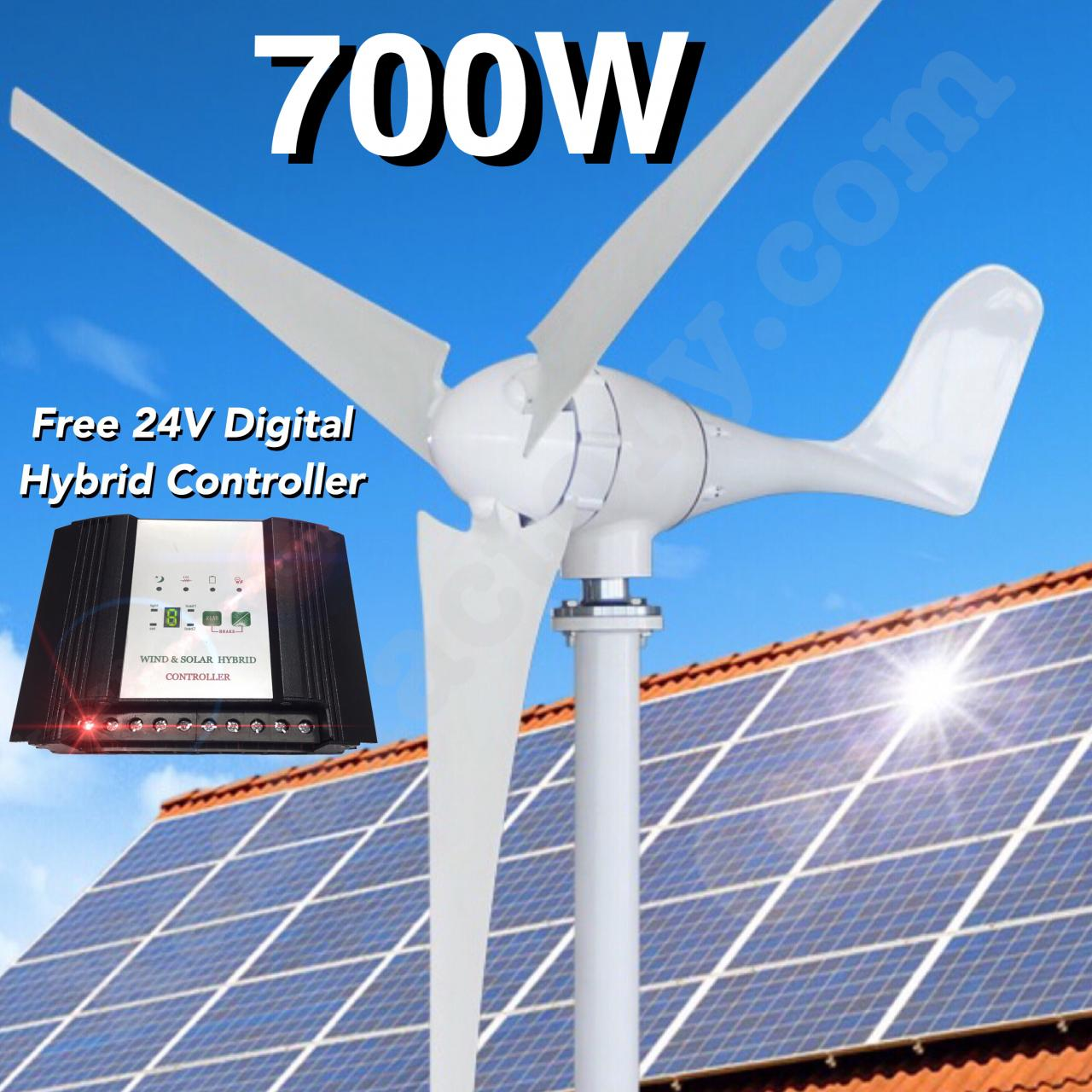 700w 24v Wind Turbine Generator 3 Blade Digital Hybrid Solar Circuit Diagram Also Home Theater Wiring Further