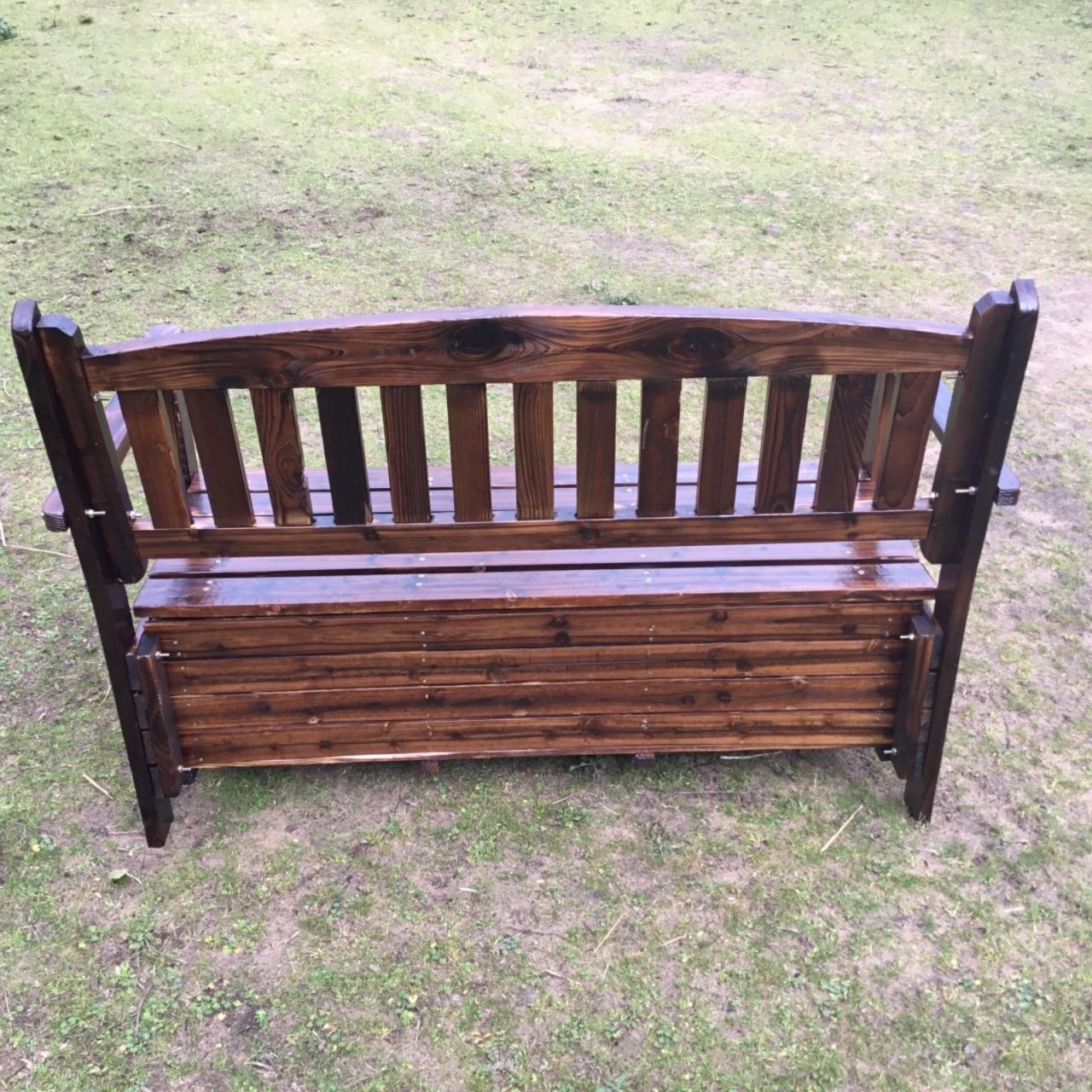 Wooden Garden Storage Box Timber Bench Chair Outdoor ...