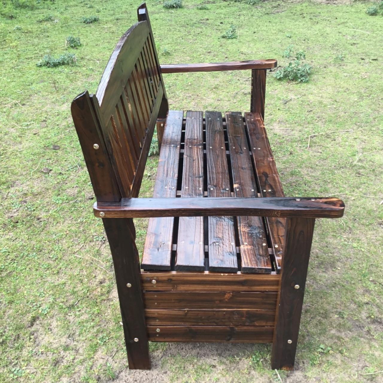 wooden garden storage box timber bench chair outdoor. Black Bedroom Furniture Sets. Home Design Ideas