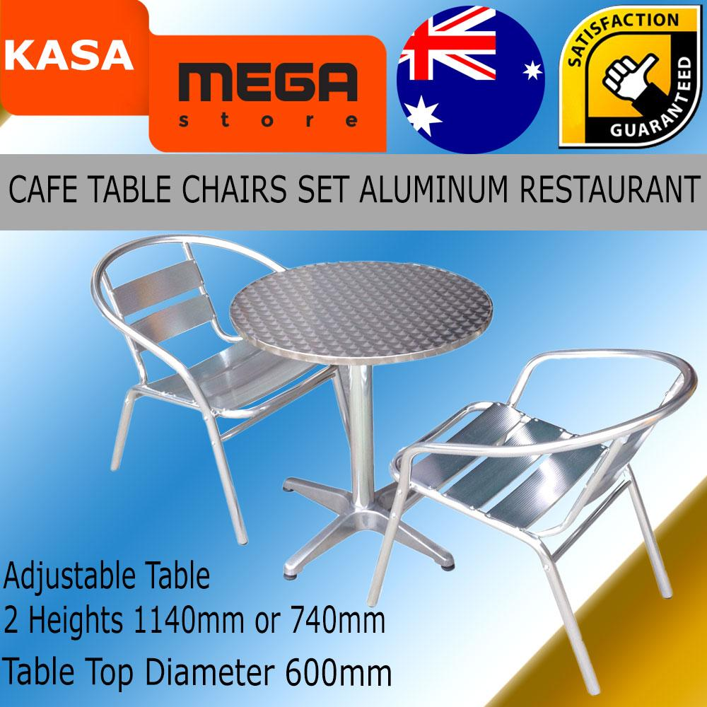Outdoor Cafe Table And Chairs Set Commercial Aluminum Restaurant - Aluminum table and chairs for restaurant