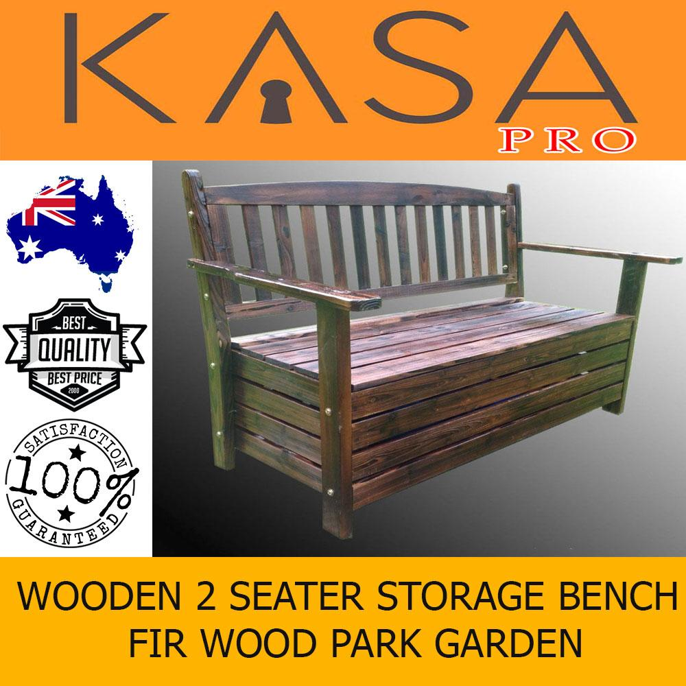 Awesome Details About Fir Wood Park Garden Patio Wheel Storage Bench 2 Seater Wooden Bbq Deck Gamerscity Chair Design For Home Gamerscityorg