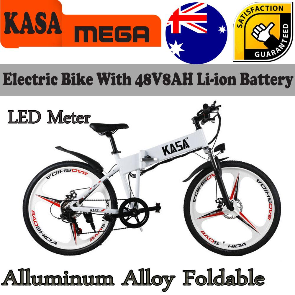 Battery Powered Bicycles >> Details About Kasa Foldable Bike 48v Electric E Bike Folding Bicycle Lithium Battery Powered