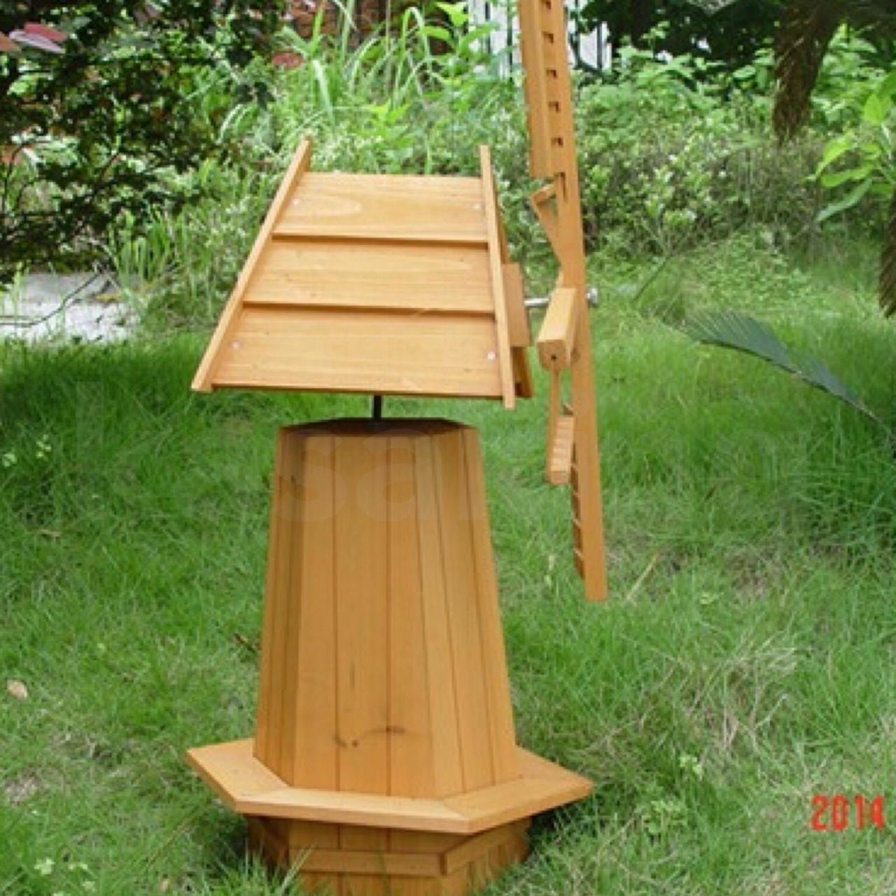 KASA 72 Outdoor Garden Windmill Wooden Decor Lawn Ornament ...