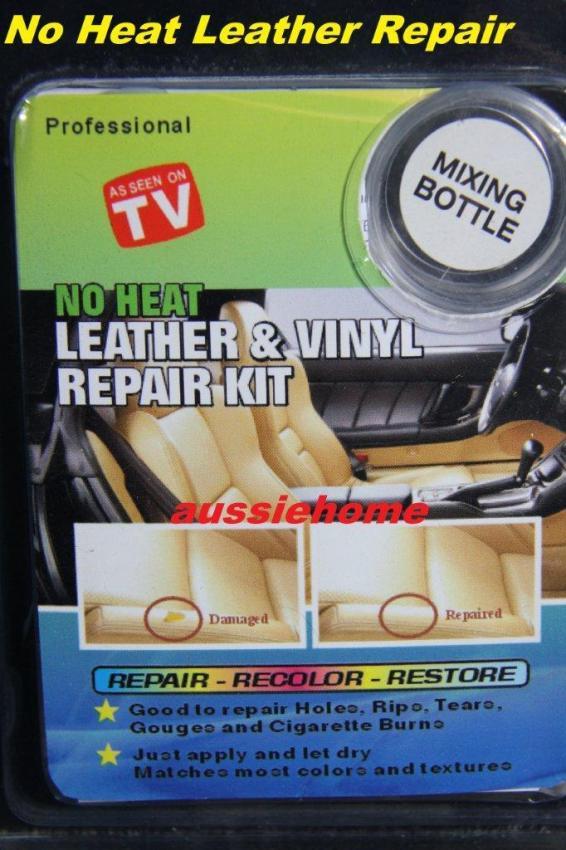 PRO DIY No Heat Liquid LEATHER VINYL REPAIR KIT Fix Sofa ...