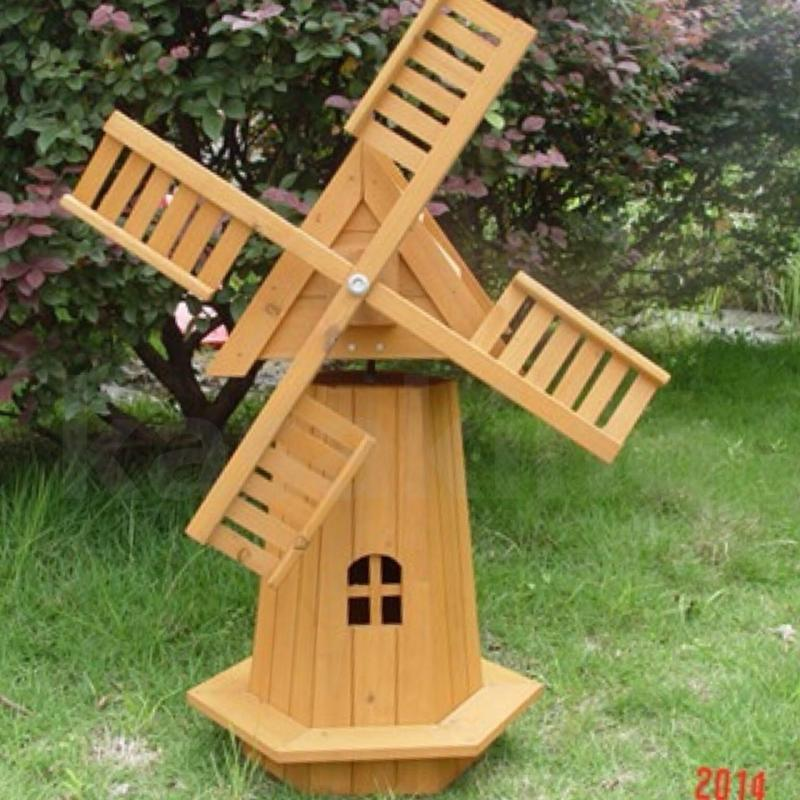 Outdoor Garden Windmill Wooden Decor Lawn Ornament Moving ...