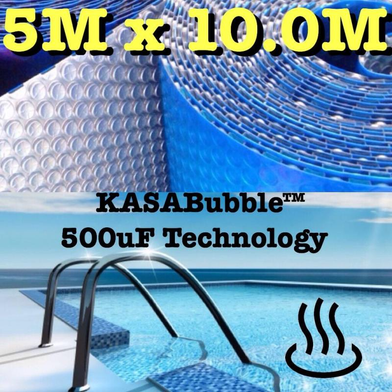 Silver Solar Swimming Pool Cover 500 Micron Outdoor Bubble Blanket 10 0 X 5 0m Ebay