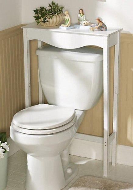 White Wooden Bathroom Commode Table Ebay