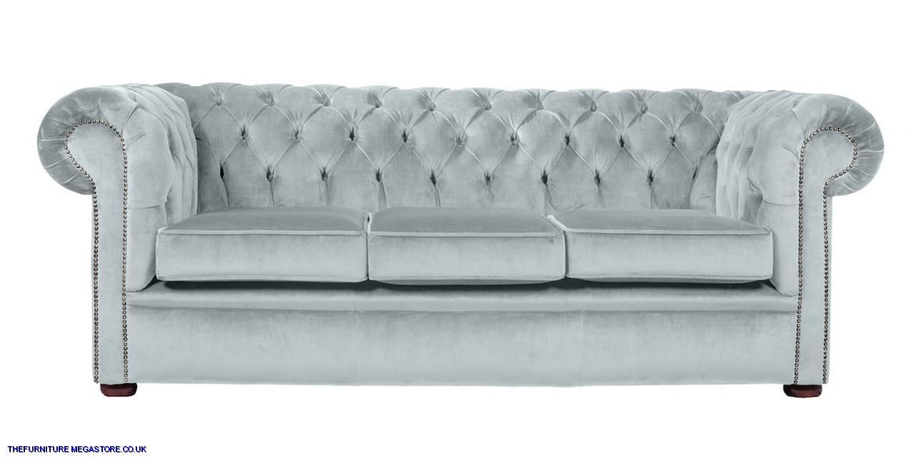 Sky Velvet Chesterfield Sofa Couch