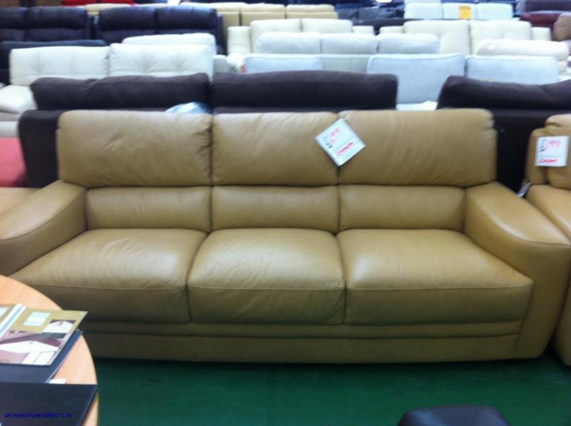 sofitalia italian leather tan incanto sofa 3 1 suite. Black Bedroom Furniture Sets. Home Design Ideas