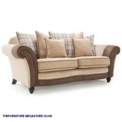 Oakland Fabric Scatter Back 3 Seater Sofa Chesterfield Dfs John Lewis Ebay