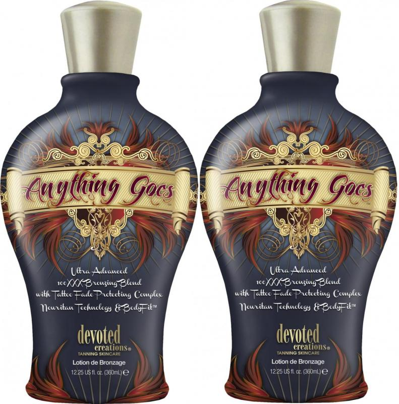 Lot Of 2 Anything Goes 100xxx Dark Bronzer Indoor Tanning