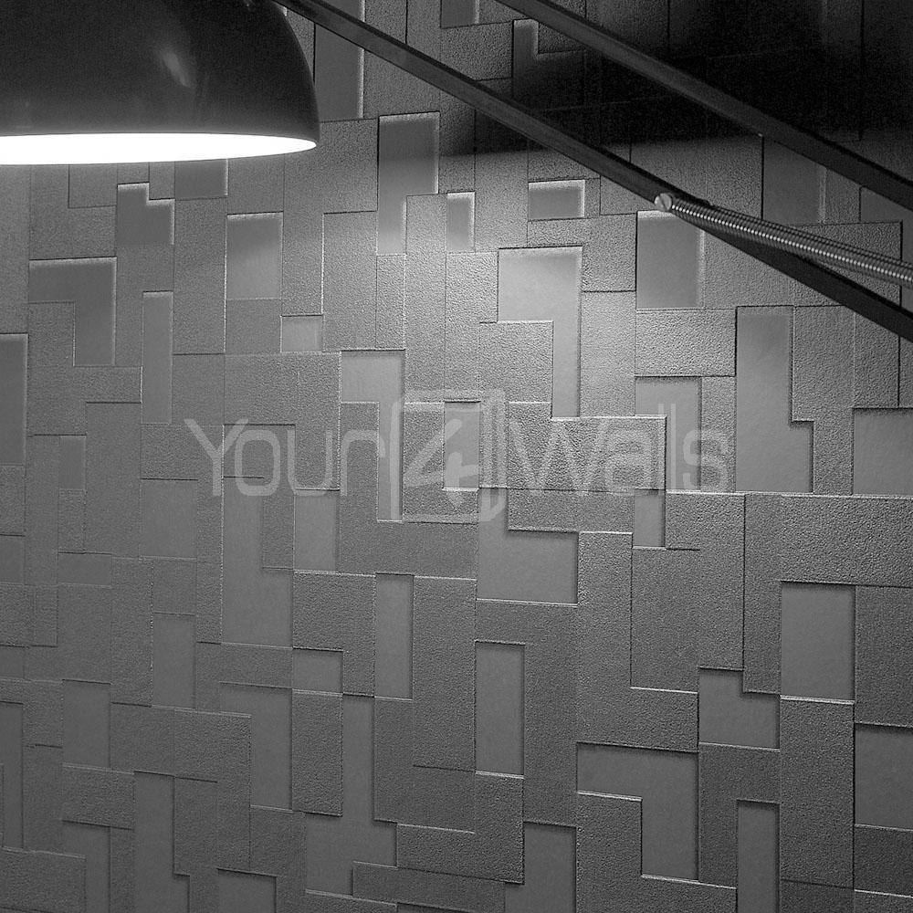 Brick wallpaper 3d block effect wallpaper black colour for 3d brick wallpaper uk