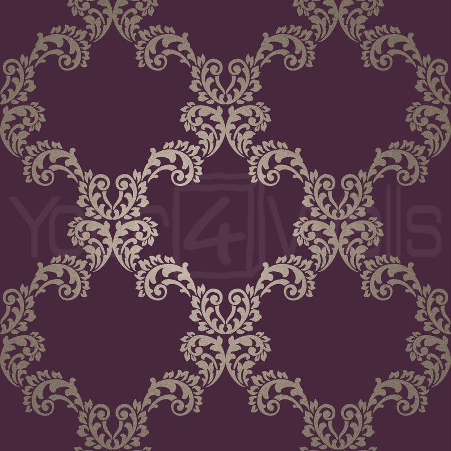 purple damask wallpaper - photo #23