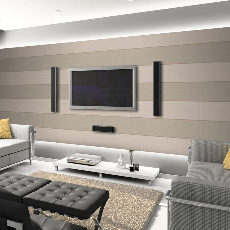 Living room wallpaper feature wall