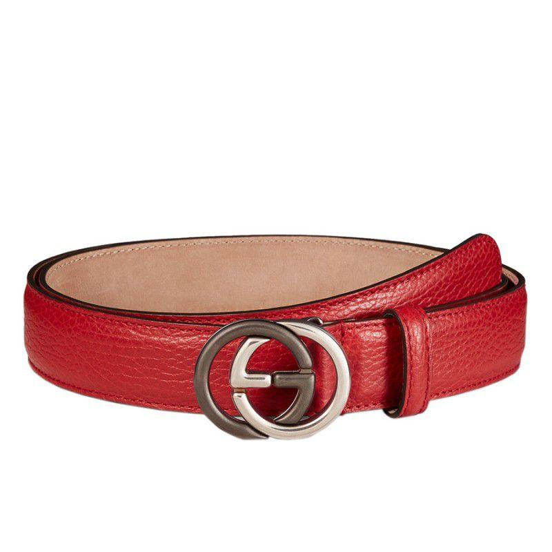 d826d49ff03b Gucci Leather Belt With Interlocking G Buckle 105   42  450