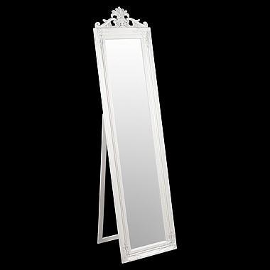 Home kitchen kitchen designs wardrobes full length wardrobes - Baroque Style Ornate Floor Standing Cheval Mirror White