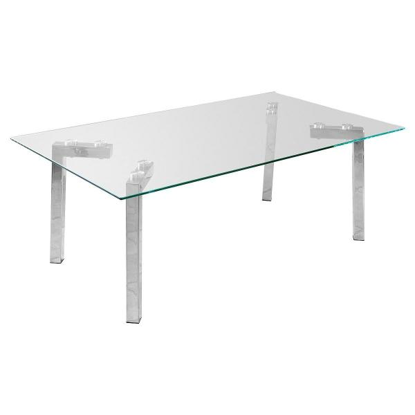 Glass Coffee Table With Chrome Legs Ebay