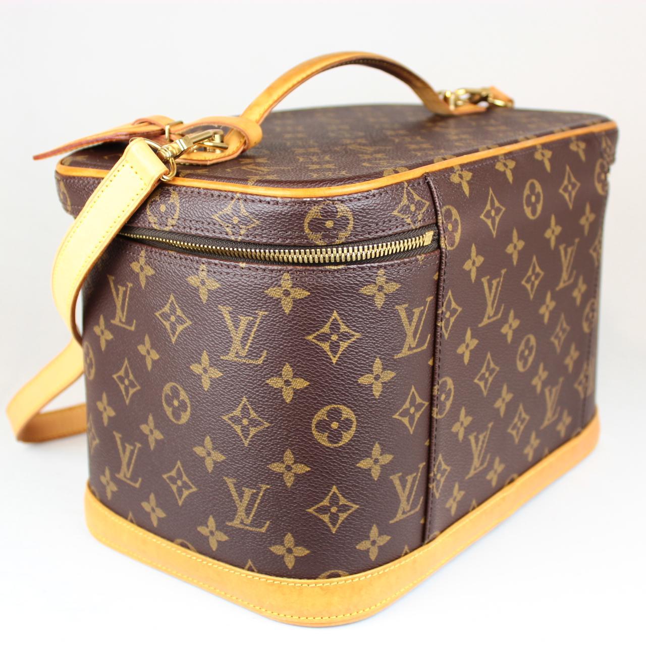 Auth Louis Vuitton Monogram Canvas Cosmetic Bag Vanity