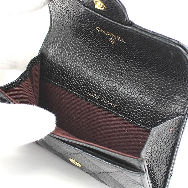 3b83945992d711 CHANEL Matelasse Caviar Skin Leather Coin Purse #44246 free shipping ...