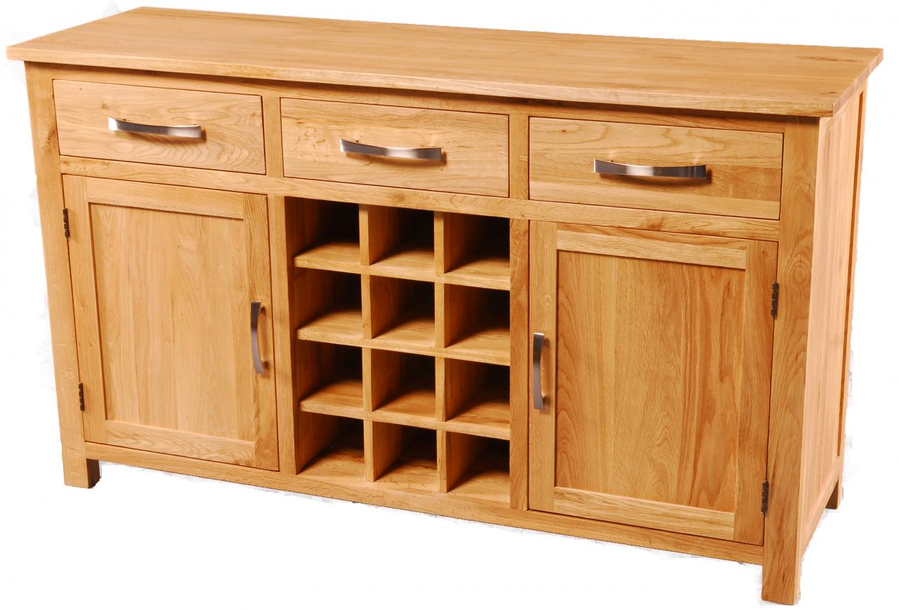 Solid Oak Sideboard Buffet Wine Cabinet Images Hosted