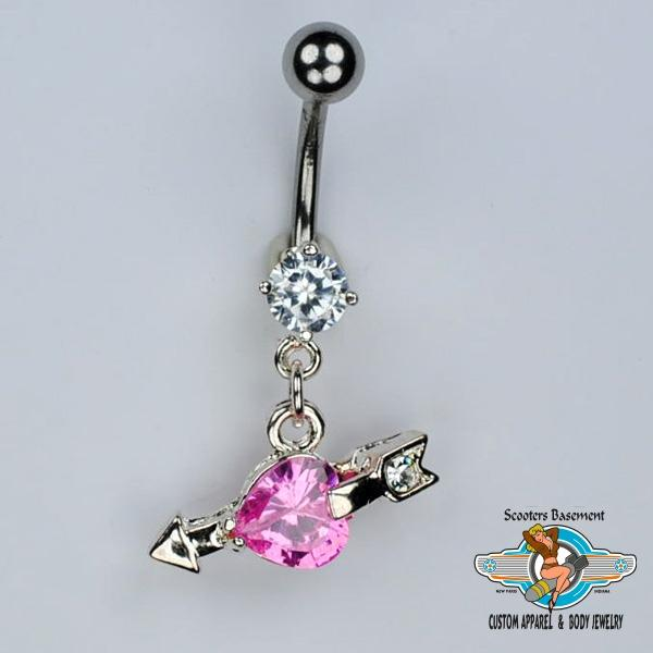 CZ Dangle Belly Ring