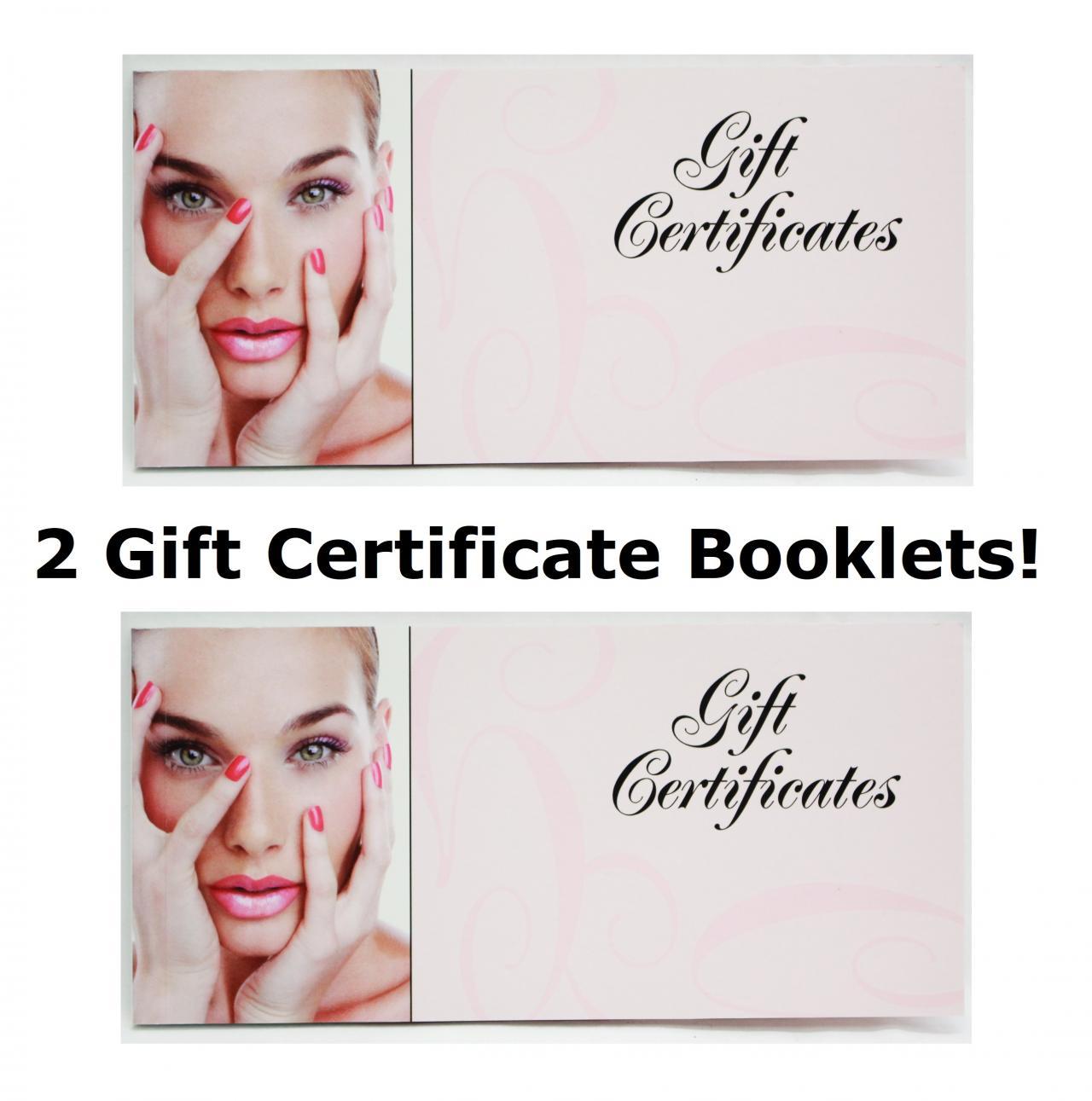 tearable blank gift certificate book spa hair nail beauty salon 50ct