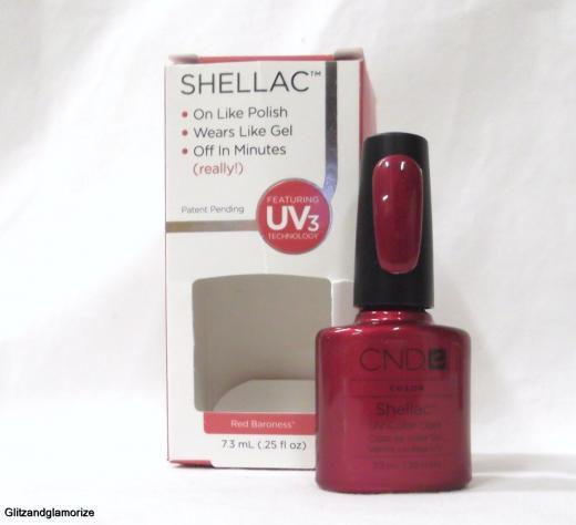 CND Creative Nail Shellac Gel Polish Red Baroness .25oz/7