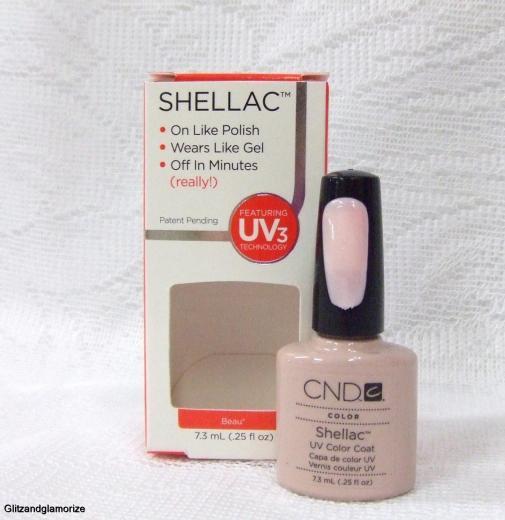 CND Creative Nail Shellac Gel Polish Beau .25oz/7.3ml