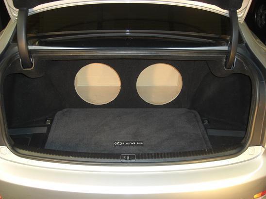 For 06-13 Lexus IS250 IS-250 350 Recessed Sub Box Subwoofer Enclosure Flush