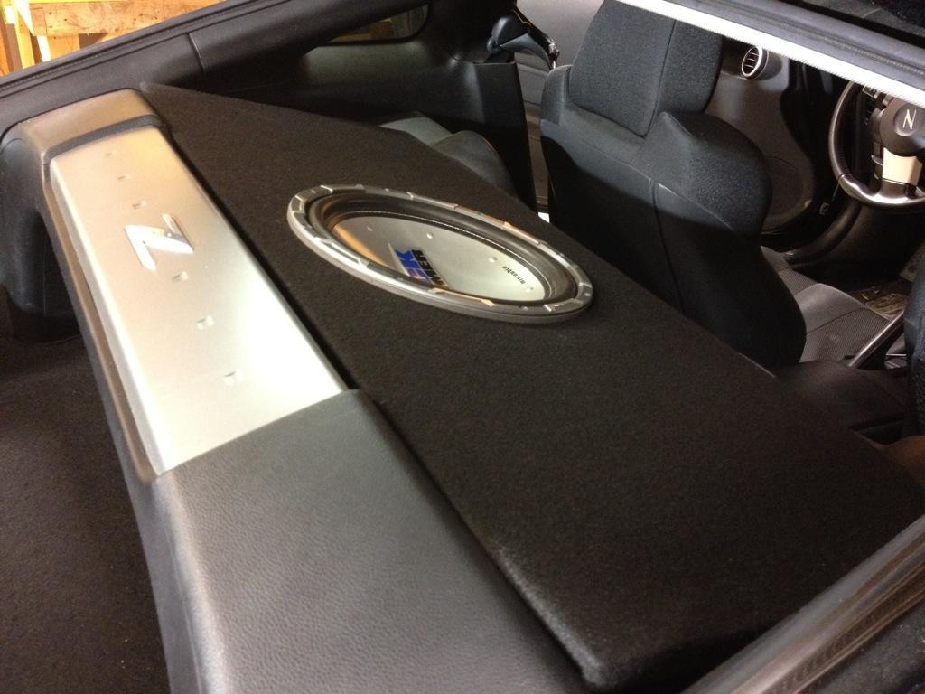 For A Nissan 350z Custom Ported Sub Box Subwoofer Speaker Rfk1d Dual Amp 0 Gauge Awg Wiring Kit Car Audio Direct Cougar