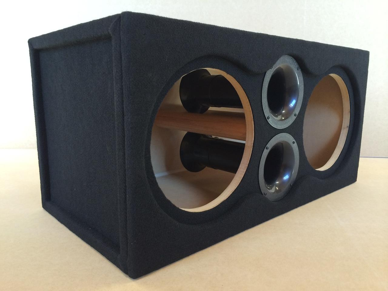 Custom Ported Subwoofer Enclosure Sub Box For 2 10 Jl Audio 10w6 Xd Acs60 6 Gauge Amplifier Amp Wire Installation Kit Speaker Cougar