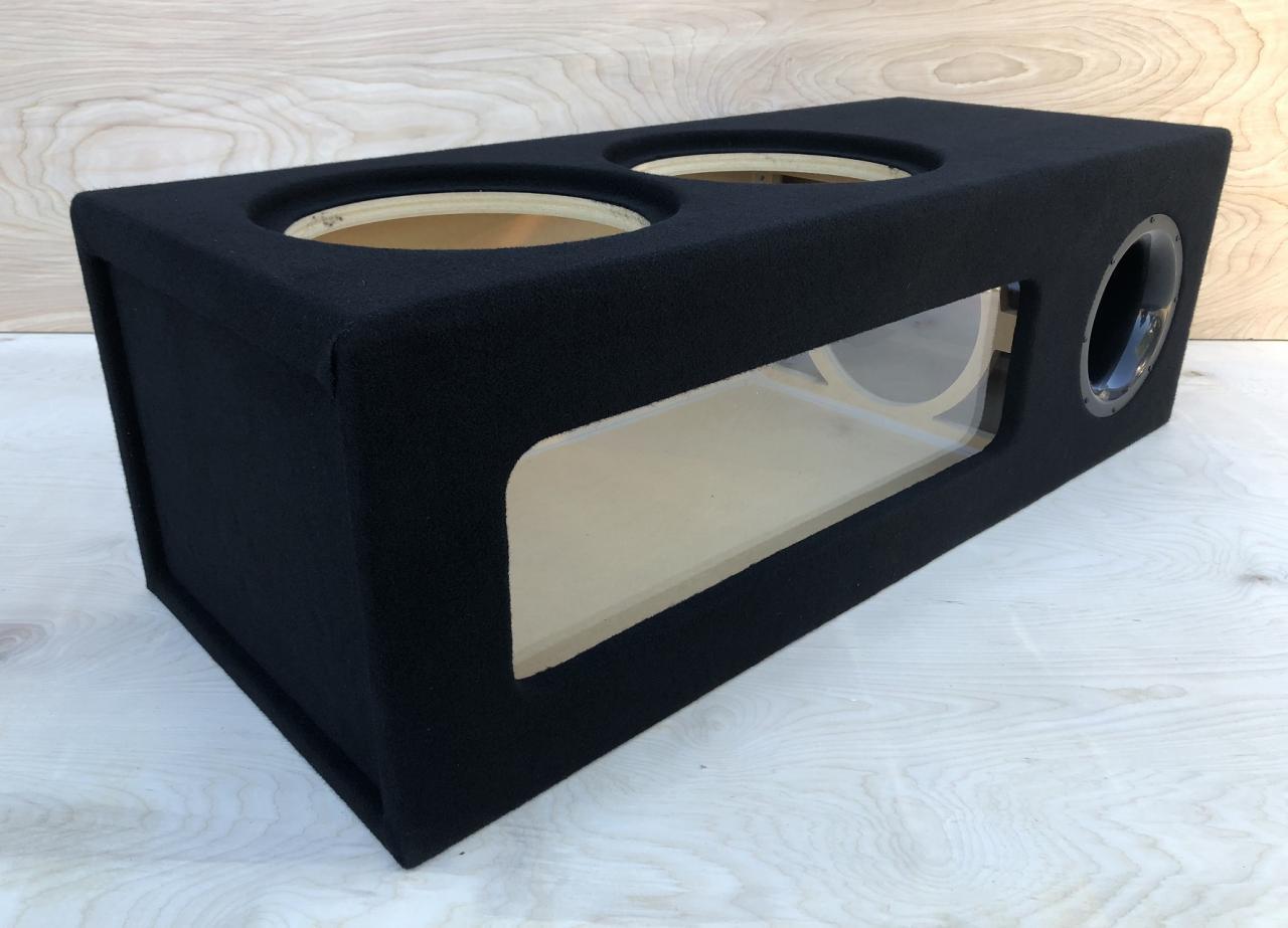 "Details about Ported Sub Box Enclosure for 10 110"" Subwoofers ~Plexiglass~ 10""  AEROPORT ~ 10.10CF"