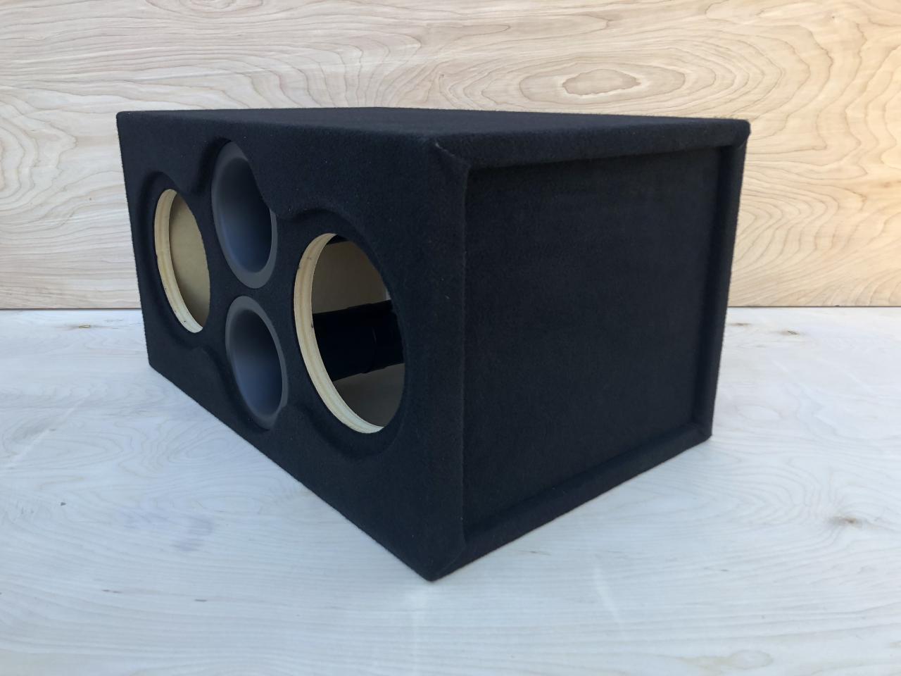 """Custom Ported Sub Box Enclosure for 2 8/"""" CT Sounds Meso 8 Subs ~ Plexiglass ~"""
