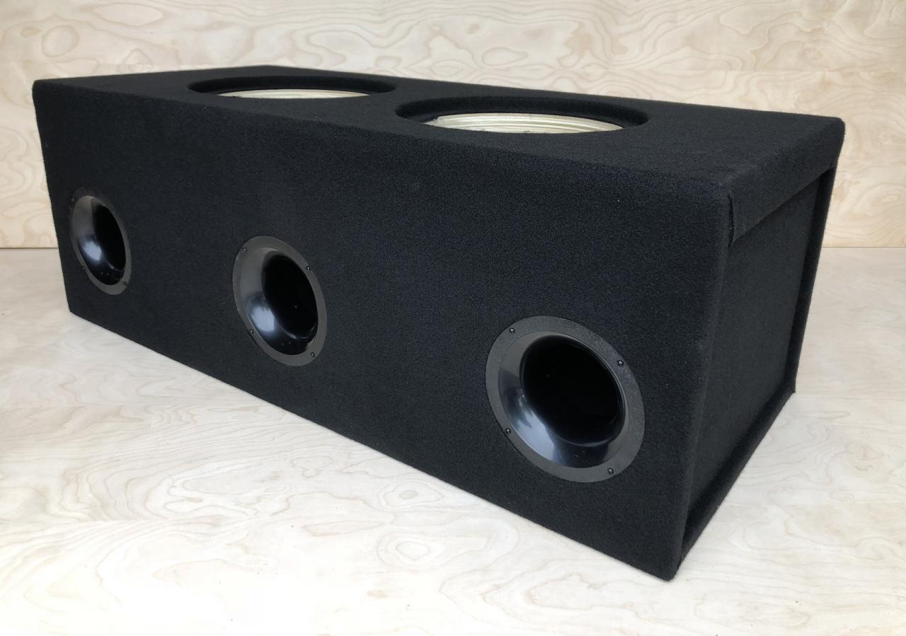 """5.0 CF Custom Ported Sub Box Enclosure for 2 12/"""" Massive Audio HIPPO-112 BIRCH"""