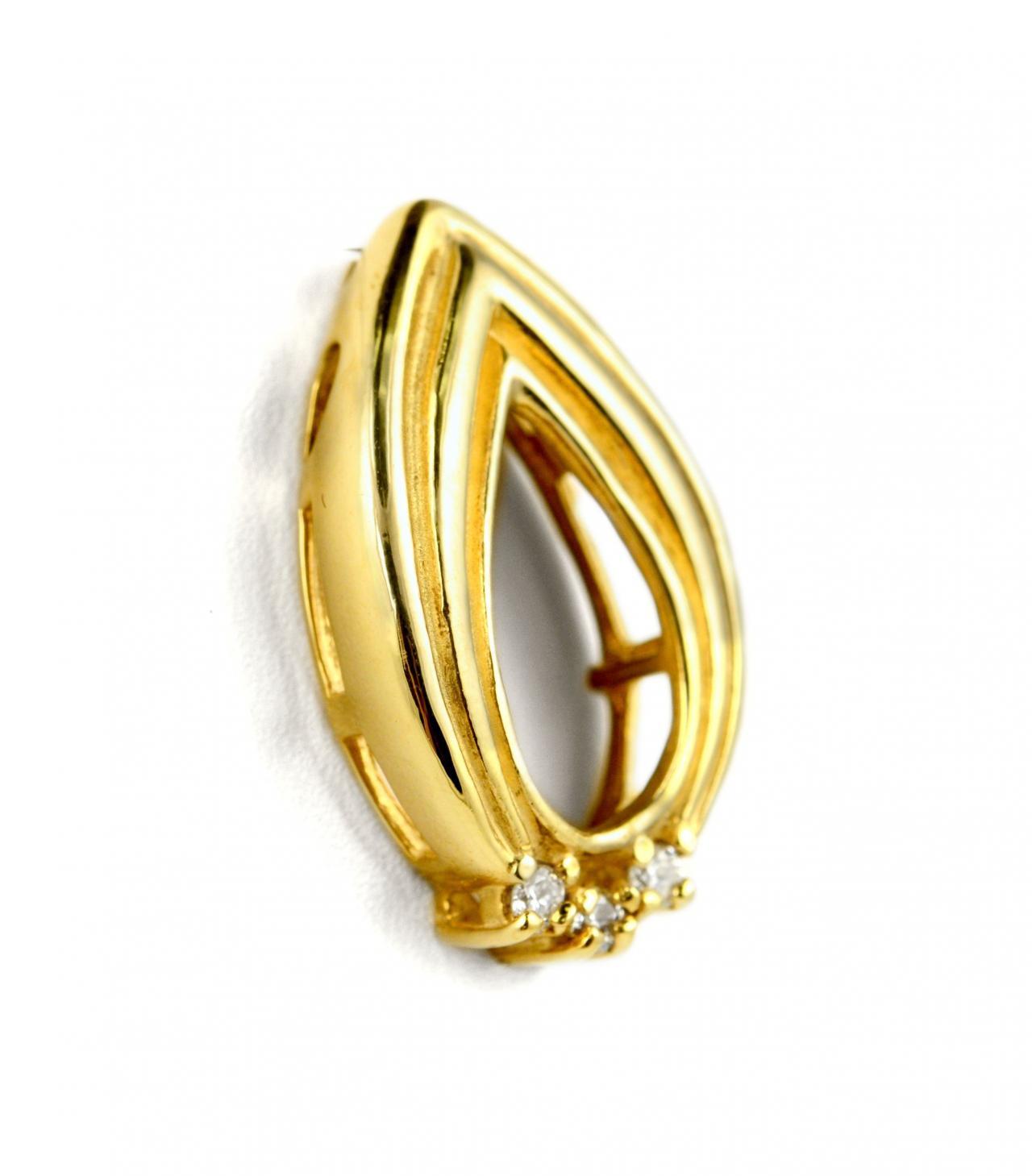 Stuller Three Stone Side Stones: 0.05ct STULLER 14k Yellow Gold Round Cut Diamond 3-Stone