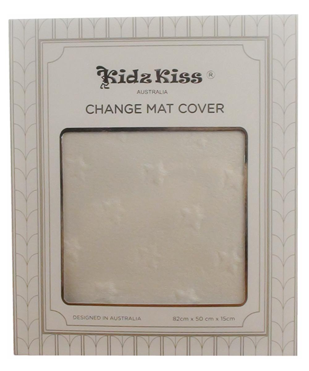 Kidz Kiss Nursery Essentials Sherpa Change Mat Pad Cover