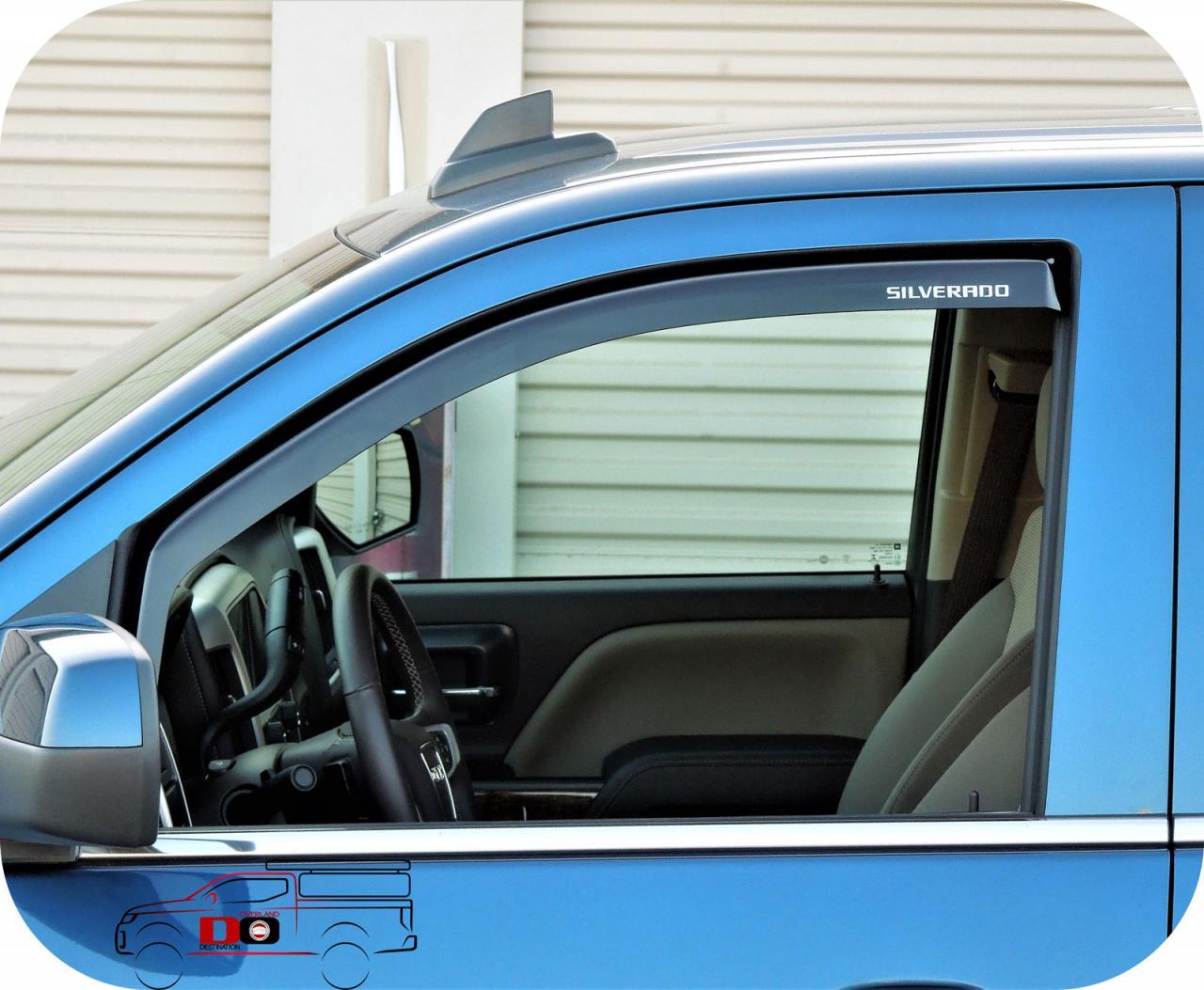 WeatherTech Side Window Deflectors - 2001-2006 - Chevy ... |White Silverado Window Deflectors
