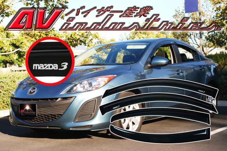Mazda 3 sedan 2010 2013 4 door window deflectors door - 2010 mazda 3 interior door handle ...