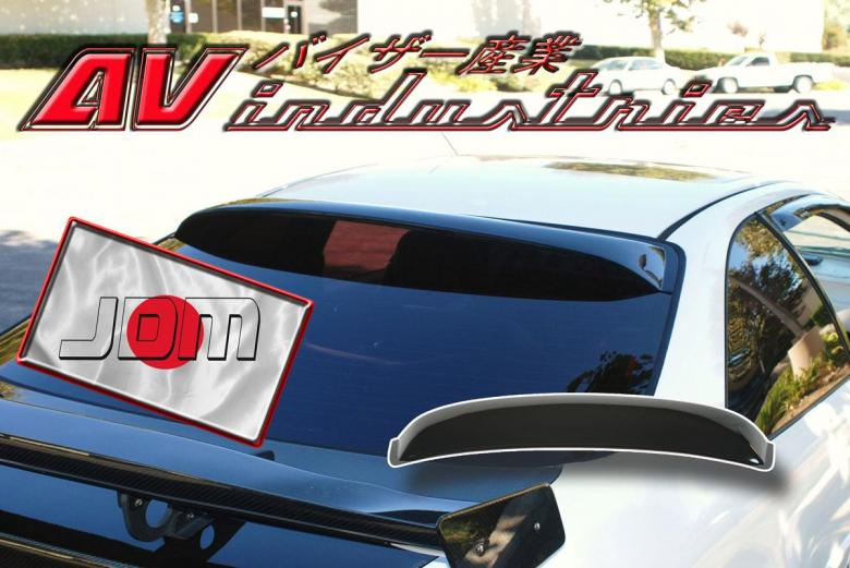 Honda civic 1996 2000 2 door coupe rear roof window visor for 2000 honda civic rear window visor