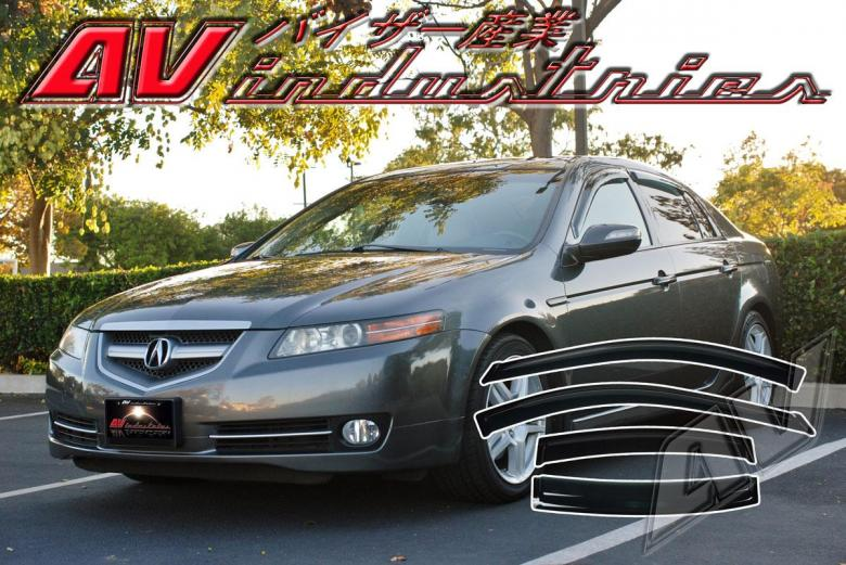 Acura tl sedan 2004 2008 side window deflectors sun visors for 05 acura tl rear window visor