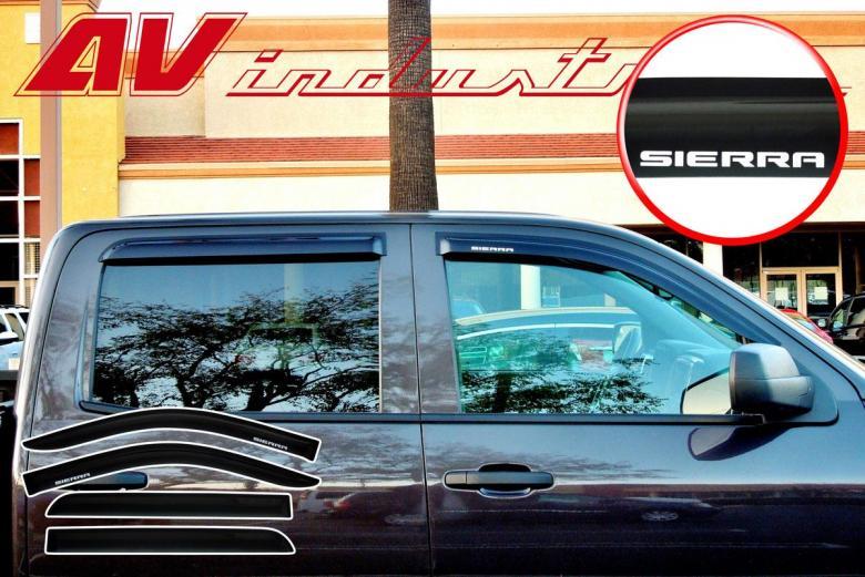 Sierra 2014 2017 Crew Cab Side Window Door Visors Vents