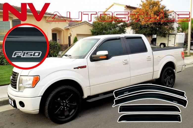 09 14 F150 Super Crew Supercrew Window Sun Deflectors
