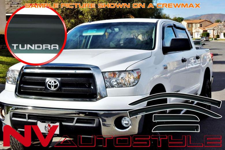 Rain Guard Sunroof Visor 1100mm Dark Smoke 3MM For 2007-16 Toyota Tundra Ext Cab
