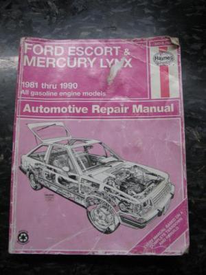 Haynes Ford Escort Mercury Lynx Automotive Repair Manual | eBay