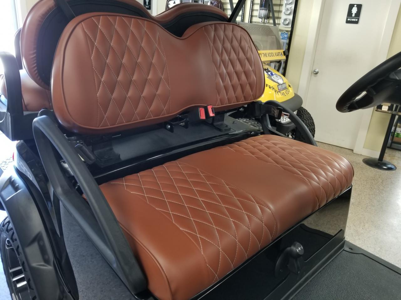 Club Car Precedent Golf Cart Premium Diamond Pleated Seat