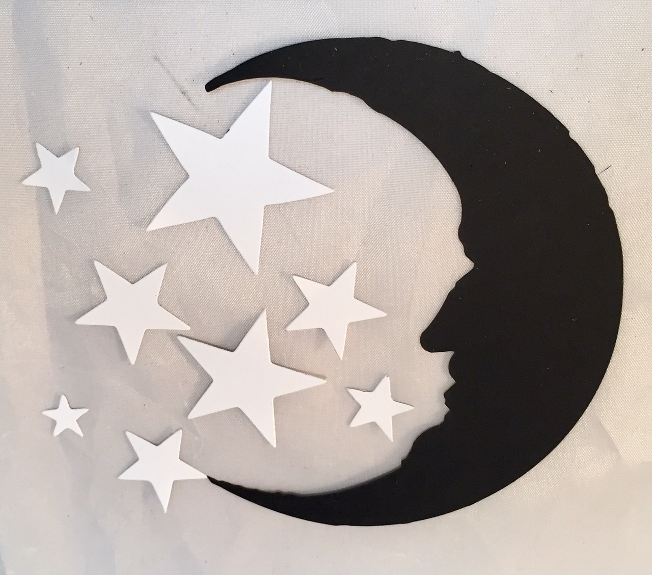 Sizzix Bigz Die by Tim Holtz Crescent Moon and Stars 5.5 by 6-Inch
