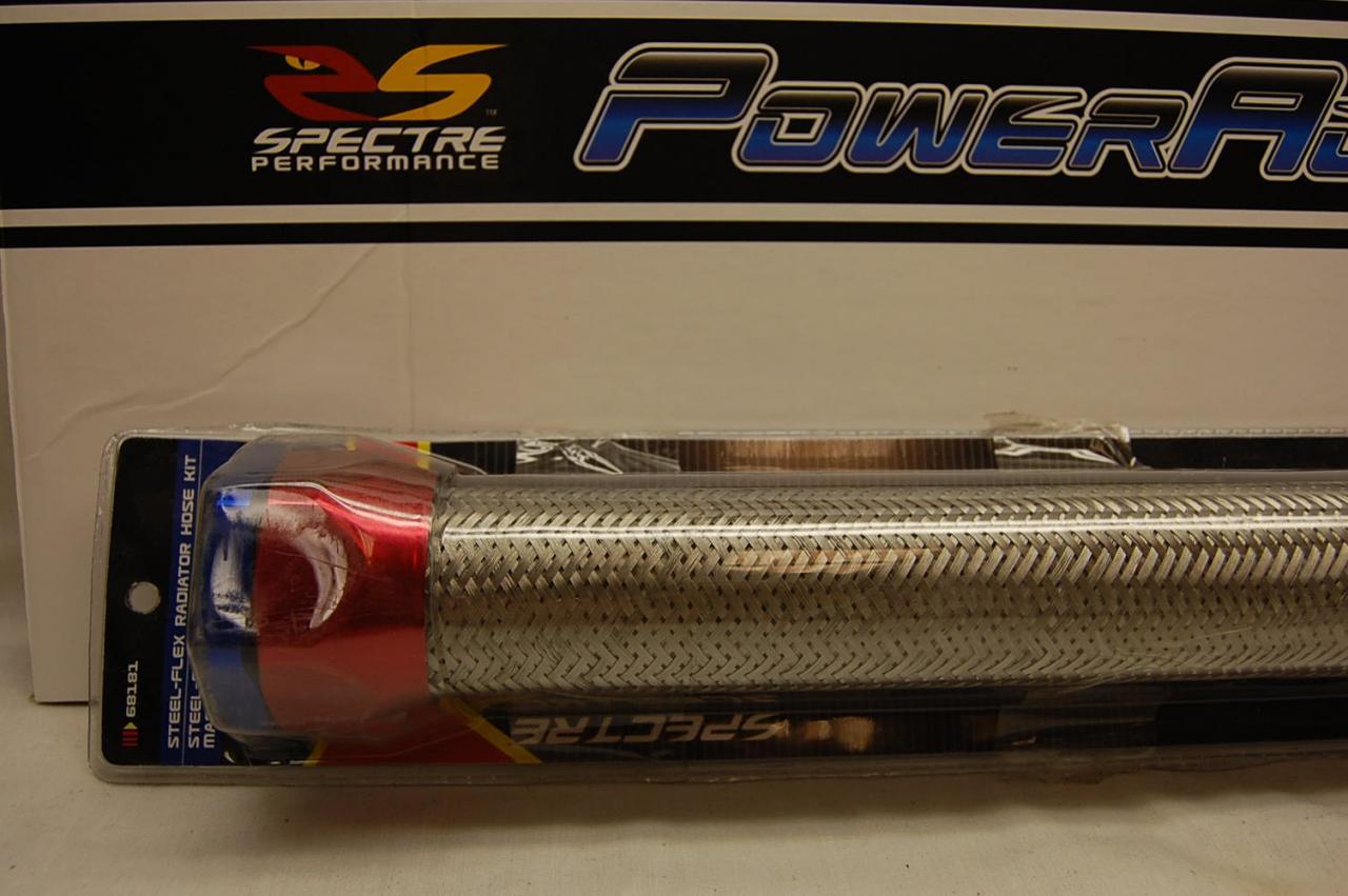 Spectre radiator flex hose steel braided magna clamp