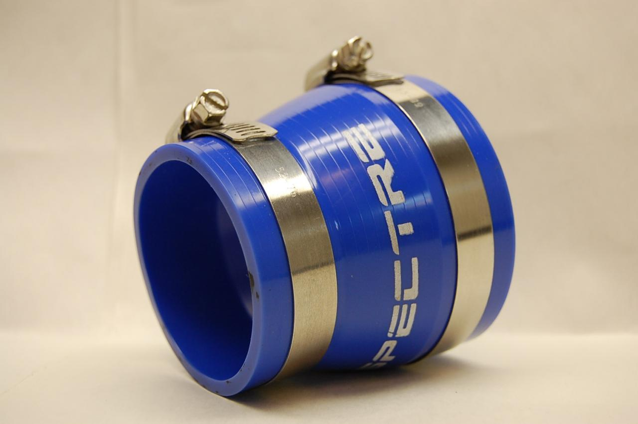 "SPECTRE PERFORMANCE 8756 3/"" 2.5/"" BLUE PVC RUBBER BOOT COUPLER REDUCER"